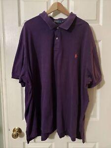 Ralph Lauren 5XB Polo Shirt Purple Short Sleeve Polo (S313)