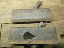 vintage wood molding planes Sandusky rabbet Moseley round old carpenter tool
