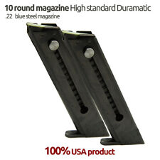 2 Pack High Standard Late Model 10 Round .22 LR Blue Steel Magazines