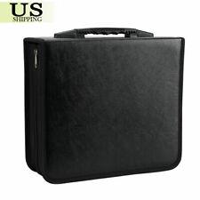 Upto 400 Disc CD DVD Organizer Holder Storager Bag Wallet Album Medi Video Black