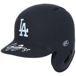 CODY BELLINGER Autographed LA Dodgers Black Matte Mini Batting Helmet FANATICS