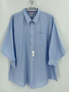 Brooks Brothers Dress Shirt Blue Big & Tall Custom Fit Non Iron Point Collar New