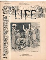 1899 Life May 4 -Pity the poor girl who marries a Mormon Widower;Mars & Columbia