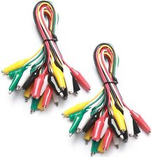 Wgge Wg 026 20 Pieces And 5 Colors Test Lead Set Amp Alligator Clips205 Inches