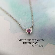Authentic Tiffany & Co. Elsa Peretti By The Yard Pink Sapphire Necklace RP$250