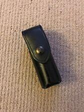 "Ex Police Black Leather CS Gas / Captor Holder For 2"" Kit Belt. Used. Box74."