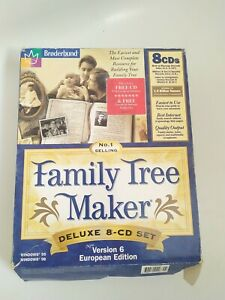 Family Tree Maker Deluxe 8 Cd Set new and sealed Version 6 European Edition.