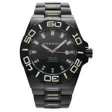 Android AD671 Tritium T100 Black PVD Stainless Steel 48mm Automatic Men's Watch