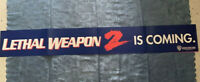 LETHAL WEAPON 2 rare Warner VHS era VIDEO BANNER POSTER cult 80s action movie