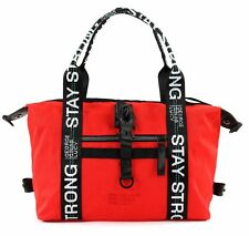 GEORGE GINA & LUCY Nylon Roots Freerange Schultertasche Red Strong Rot Schwarz