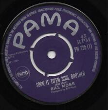 BILL MOSS sock it to em soul brother*instrumental 1969 ORIG UK PAMA FUNK*SOUL 45