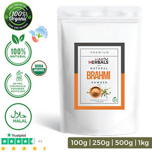 Organic BRAHMI Powder 100% Natural Premium Quality Organic