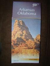 ARKANSAS OKLAHOMA STATE SERIES HIGHWAY MAP AAA 2/16-5/17 NEW