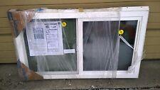 "New Jeld-Wen Premium Brown & White Vinyl Semi-Slider Home Window (41"" W x 24"" H)"