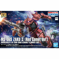 BANDAI HG 1/144 MS-06S ZAKU II Red Comet Ver Plastic Model Kit Gundam THE ORIGIN