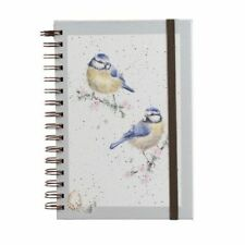 Blue tit spiral bound notebook Wrendale hardback GIFT FREE P&P