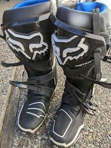 Fox Instinct Motocross Boots Size 10 Men's Good - Excellent Condition Fly Comp