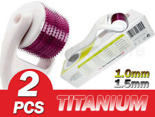2 of (540 Needles) Tmt Dermaroller , Skin Roller Titanium 1.0&1.5mm Acne Scars