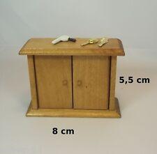 coiffeuse salle de bains garni, miniature,maison de poupée,vitrine meuble  OCC2