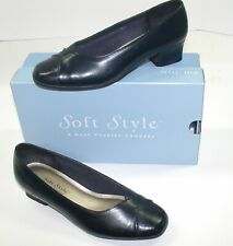Soft Style Ladies Pump Heels by Hushpuppies ~ Navy Blue ~ US-7W UK-5 EU-38