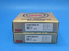 NSK 7208CTYNSULP4 Abec-7 Super Precision Spindle Bearings. Matched Set of Two