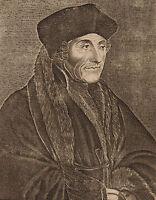 Portrait XVIIIe Érasme Erasmus Renaissance Desiderius Erasmus Rotterdam Humanism