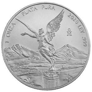 Mexiko - 1 Onza 2020 - Libertad - Siegesgöttin - Anlagemünze - 1 Oz Silber ST