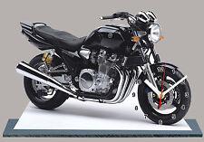 MOTO, YAMAHA 1300 XJR NOIR, EN HORLOGE MINIATURE-16