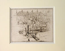 JOSEPH PENNELL SIGNED ETCHING LINDSEY HOUSE CHEYNE WALK CHELSEA 1903