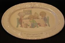 """Enesco Precious Moments Platter """"We Gather Together to Ask Lord's Blessing"""""""