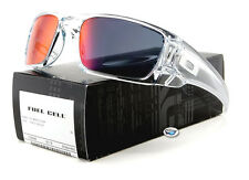 New Oakley FUEL CELL Sunglasses | 9096-H6 Polished Clear / Torch Iridium Lens