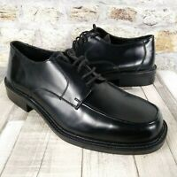 Mens Rockford Gibson Shoes Size UK 9 Black Leather Lace Up Formal