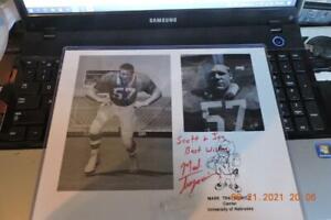 Nebraska Cornhusker - autographed photograph Mark Traynowicz