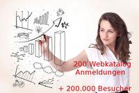 200 Webkatalog Eintragungen + 200000 Besucher Link Aufbau SEO Webseiten Besuche