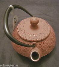 Teiera Giapponese Originale IWACHU in ghisa rosata lavorazione floreale 32 cl