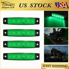 "4PCS Green 3.8"" Trailer Clearance Lights for Auto Boat Truck Car Bus UTV Lamp"