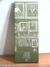 I MUSEI Schede Capire l Italia Itinerari TCI 1980 Guide Geografia Museologia di