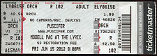 PUSCIFER 6/15/2012 Summer Tour Concert Ticket!! MODELL PAC AT THE LYRIC Seat 102