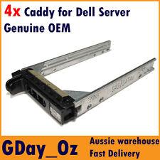 "4x 2.5"" Dell Server Caddy Bulk Discount Pack KF248 F830C PowerEdge PowerVault"