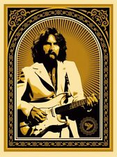 GEORGE HARRISON GOLD BEATLES friendship shepard fairey obey giant  **SOLD OUT**