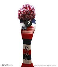 #3 FAIRWAY HEADCOVER USA GOLF Red White Blue KNIT Head Covers Headcovers