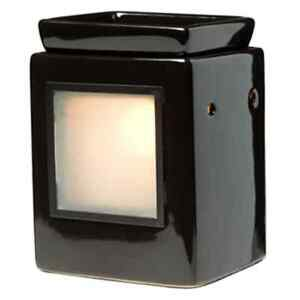 Authentic Scentsy Cube Ebony Lamp Wax Warmer Large Full Size