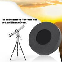 Solar Filter Sun Film Membrane 50mm Astronomical Telescope Lens Cap Photography