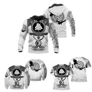 Viking Warrior Tattoo 3D Print Unisex T-Shirt/Sweatshirt/Hoodie Casual Tracksuit