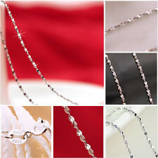 """Lady's Pretty 1 pc Italy Sexy Starry Chain Necklace Gift 18"""" 925 Silver Plate"""