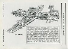 1948 Aviation Article Vickers Armstrong Sea Attacker Jet Drawing Schematic Plan
