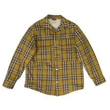 NWT FEAR OF GOD Yellow Plaid Flannel Button Down Shirt Jacket Size L $895