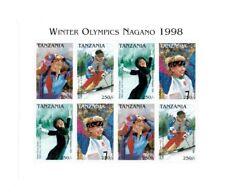 Tanzania 1997 - Pre Winter Olympics - Sheet of 8 Stamps - MNH