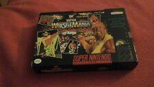 SUPER WRESTLEMANIA WRESTLE MANIA VIDEO GAME WWF SUPER NINTENDO SNES COMPLETE