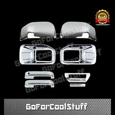 15-16 FORD F150 Fog Light Top Half Mirrors Door Handles + Tailgate Chrome Cover